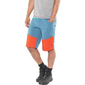 La Sportiva TX Pantalones cortos Hombre, Azul petróleo/rojo